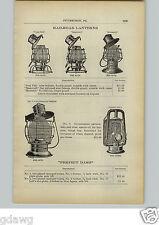 1910 PAPER AD Ham's Lanterns Railroad Fort Pitt Monarch Bestofall Gov't Pattern