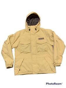 Burton snowboard jacket gold pockets  hooded youth? Large