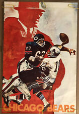Original Vintage Poster Nfl Football Memorabilia Sports Pin Up Chicago Bears