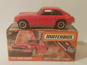 Matchbox 1971 MGB COUPE Diecast Mint in Box