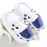 Prewalker Baby Shoes Boys Girls Newborn Infants Leather Crib Soft Sole Sneakers