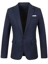 GARSEBO Men's Casual Dress Suit Slim Fit Stylish Blazer Coats Jackets