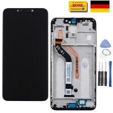 LCD Display Touchscreen Digitizer Glas Schwarz + Rahmen für Xiaomi Pocophone F1