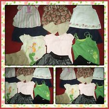 HUGE LOT SUMMER CLOTHES SHORTS TOPS SKIRTS GYMBOREE CAT & JACK GIRLS SIZE 4-5