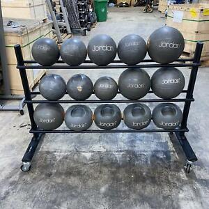 Jordan Fitness Medicine Ball Set 15 Balls with Stand - Commercial Gym Equipment