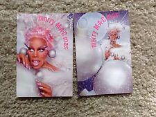 M. A. C MAC Cosmetics Postcard LOT Drag Queen Rupaul Merry MAC mas Christmas Gay