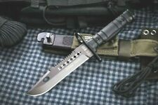 U.S. Marine Bayonet Saw Back Black Rubber Handle with Tactical Sheath RUI32067
