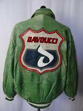 Men's Davoucci Legends Sportswear 1989 Vintage Leather Varsity Jacket XL 46R