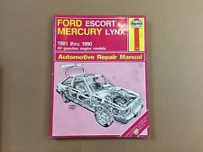 Service Repair Manual Haynes Ford Escort Mercury Lynx, 81-90