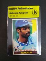 Wilson Wilson 1979 Topps #409 Signed Autographed Royals Beckett BAS