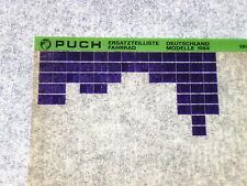 Microfich Ersatzteilkatalog Ersatzteilliste Puch Fahrrad Modelle 1984 1/84