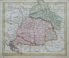 Original 1803 Johann Walch Map HUNGARY & GALICIA Danube River Minsk Croatia