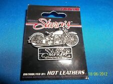 STURGIS 2012  BLACK HILLS RALLY  CLASSIC MOTORCYCLE SHAPED PIN PEWTER BIKER  NEW