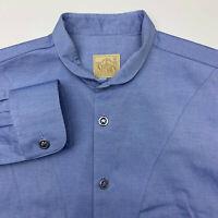 Stubbs Button Up Shirt Mens Medium Blue Western Long Sleeve Casual