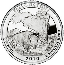 2010 S SILVER GEM PROOF YELLOWSTONE AMERICA THE BEAUTIFUL QUARTER 90% SILVER