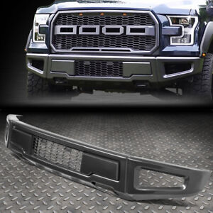 FOR 15-18 FORD F150 RAPTOR STYLE STEEL FRONT LOWER BUMPER FACE BAR W/MESH GRILLE