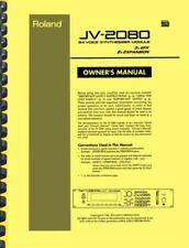 Roland JV-2080 Synthesizer Module OWNER'S MANUAL