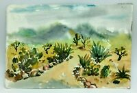 Original Watercolor Painting by MURRAY KESHNER Desert LANDSCAPE Saguaro Pathway