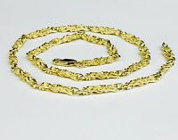 """14kt Solid Yellow Gold Handmade NUGGET link chain/necklace 20"""" 27 grams 4.5 MM"""