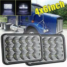 "4x6"" High Low Beam LED Headlights H4656/4651 For Kenworth Peterbilt 357 379 378"