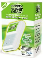 ECOTEK STANDBY SAVER COMPACT ENERGY SAVING ADAPTER CUTS 100% OF STANDBY POWER