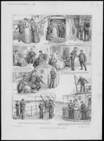 1900 FINE ART Antique Print - Illustrations Interrupted Entertainment Ince (511)