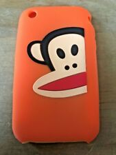 SOFT SILICONE RUBBER GEL CASE COVER SKIN - APPLE iPHONE 3 3GS - CARTOON MONKEY