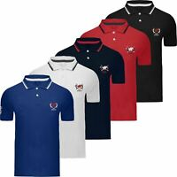 Mens Genuine Pique Polo Cotton Custom Fit Short Sleeve Shirt Top T-Shirt Pony