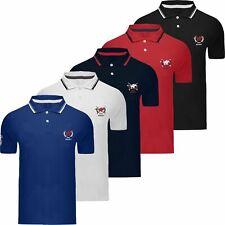 Mens Genuine Pique Polo Cotton Custom Fit Short Sleeve Shirt Top T-Shirt Pony