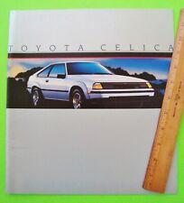 1985 TOYOTA CELICA HUGE DLX BROCHURE - USA ED. 16-pgs w/ GTS CONVERTIBLE Xlnt+