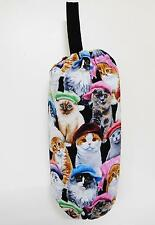 PLASTIC BAG SAVER; CATS IN CAPS FABRIC; FULLY LINED - 0077
