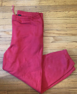 Vintage 90s Eddie Bauer red classic sweatpants. pockets
