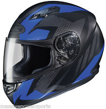 HJC CS-R3 Treague Motorcycle Helmet Matte Blue XXL Extra Extra Large Full Face