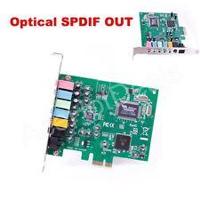 New PCI-E PCI Express 8 Channel 7.1 SPDIF Audio  Sound Card PC windows7/8