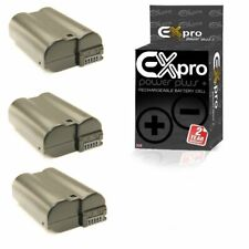 Ex-Pro EN-EL15 2200mAh Battery x3 for Nikon 1 V1 D500 D600 D800 D7000 7100 D7200
