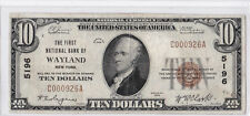 $10 1929 T1 First National WAYLAND New York NY Rare HIGH GRADE Only 23 on Census
