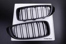 NEW MATT BLACK KIDNEY GRILLS for BMW F32 F33 F36 F80 F82 F83 TWIN SLAT M STYLE
