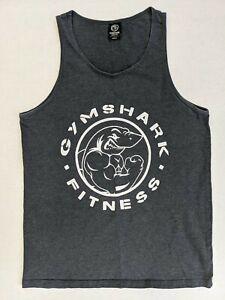 Gymshark Men's Grey Dry Vest Tank Top Size Medium