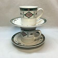 Lot of 2 Studio Nova ADIRONDACK Y2201 Espresso Cup and Saucer Sets