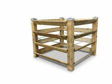 ECO Komposter Brettkomposter aus Holz mit 4 Metallkappen - ca. 650 L