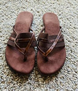 Brown Slip On Sandals Size 38/ Size 7