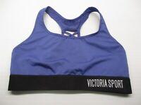 VS VICTORIA SPORT Women's Size XS Strappy Racerback Blue Compression Sports Bra