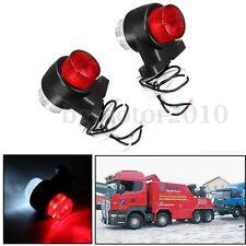 2x 12V 24V 8 LED Feux de Gabarit Latéral Rouge & Blanc Remorque Camion Caravane