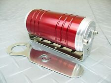 Red -8 AN/ORB 40 Micron Stainless Steel Element S-Max Aluminum Fuel Filter