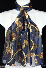 Quarter Horse Womens Scarf Western Saddle Equestrian Gift Blue Scarves New