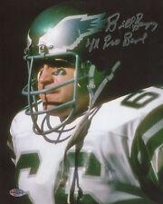 Bill Bergey Autographed 8x10 Philadelphia Eagles 4 Time Pro Bowl Inscription