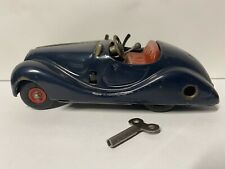 Vintage Original Schuco Examico 4001 Windup Metal Blue Car Made In Germany W/Key