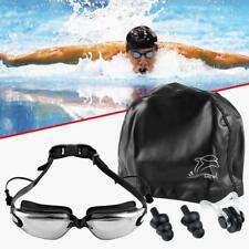 SET Anti-Fog Swimming Goggles for Men Women Boys Girls Adult Youth with earplug