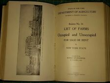 1909 - 1910 NEW YORK STATE DEPARTMENT OF AGRICULTURE; BULLETINS 11 THRU 21