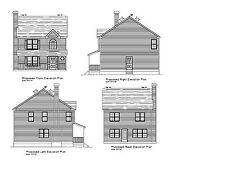 COLONIAL HOUSE PLAN SMALL COLONIAL NARROW LOT PLAN BLUEPRINT PLAN #17-2316